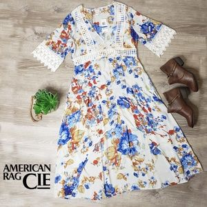 American Rag Cie NWT boho kimono high low dress XL